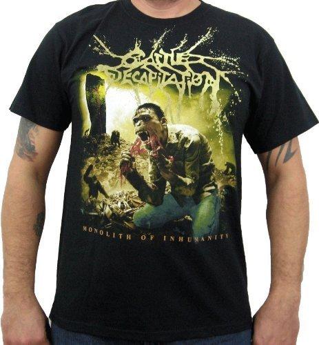 Hardcore Apparel Uomo Cattle Decapitation Monolith Album Cover T-Shirt Nero...