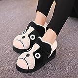 Aemember pantofole di cotone borsa con inverno uomini arredo casa spesso scarpe con suole di arredamento giovane,250 [raccomandazioni 37-38 metri usura],Black Cat