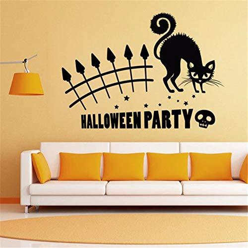 ufkleber, Halloween Plane Cartoon Fensterglas Aufkleber, heiße Kinder Wohnkultur DecalsChildren Home Decor 59x42 ()