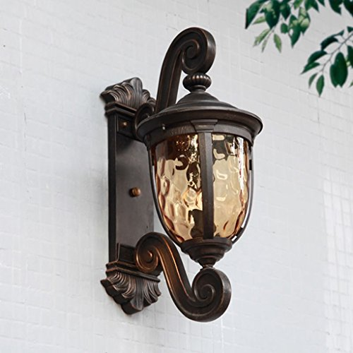 Brilliant firm lampade da parete lampada da parete per esterni americano impermeabile grande lampada da parete giardino giardino villa luci corridoio corridoio luci a++ (color : black)