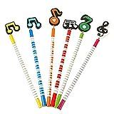 Wicemoon Creative en Notes de musique de stylos d'écriture plantes Fleur Stylo à bille à encre bleue Bureau d'école Cadeau Décoration couleurs mixtes