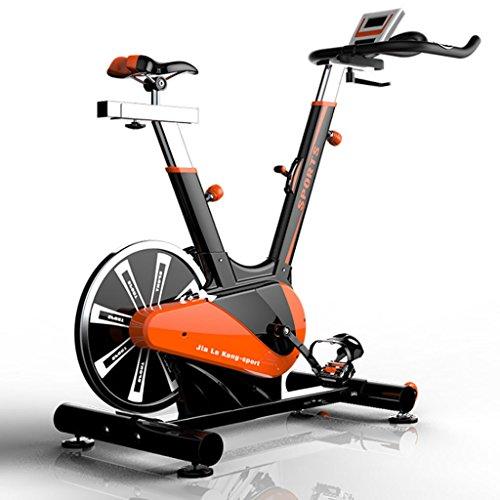 K-Y Indoorcycling Bikes Sport Aerobic Indoor Training Heimtrainer, 10 kg Schwungrad. (Farbe : Orange)
