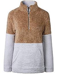 Somoll T-Shirt à Manches Longues à Manches Longues et à Patchwork en Velours  pour 61f243ab7a7