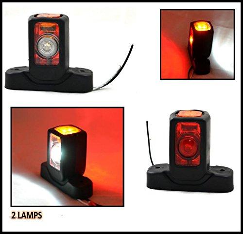 2X 12V HINTEN LED MARKER BEGRENZUNGSLEUCHTE FAHRGESTELL LKW - Led-marker Anhänger