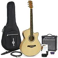 Guitarra Electroacústica Single Cutaway + Ampli de 15W Gear4music