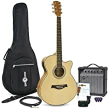 Guitarra Electroacústica Single Cutaway + Ampli de 15W Gear4music