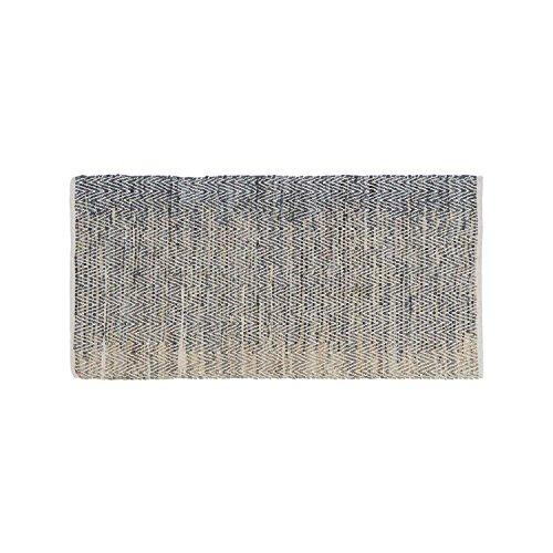 Black Velvet Studio AlfombraCairo80%Piely20%algodón,ColorBeigeyNegro.MaterialesTejidos,espigas,degradédeColor150x75x1cm