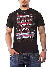 AC/DC T Shirt We Salute You Stripe Band Logo Official Mens Black