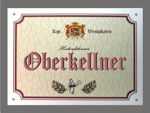 Metallschild Oberkellner - Schild Westfalen (XXL 36 x 28 cm)
