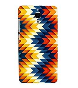 Multicolor pattern 3D Hard Polycarbonate Designer Back Case Cover for Xiaomi Redmi Mi 4 :: Redmi Mi 4