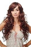 WIG ME UP - Atemberaubend schöne Damenperücke Perücke Latina Mahagoni Braun & Blond gesträhnt lang voluminös aufwendig gelockt DW1086A-33H27C
