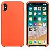 ZTZTZT Custodia in Silicone per 6s 7 8 Plus Custodia per Apple iPhone X XS Max XR per 7Plus(8Plus) Arancione speziato