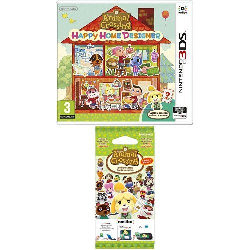 Pack Animal Crossing : Happy Home Designer + 1 Carte Amiibo 'Animal Crossing' + Paquet de 3 cartes