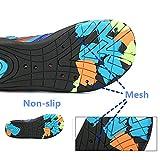 SAGUARO Kinder Badeschuhe Aquaschuhe Schwimmschuhe Wasserschuhe Strandschuhe Water Shoes für Jungen Mädchen, Grün 30 - 5