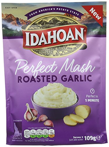 Idahoan Roasted Garlic Potato Mash, 109 g, Pack of 12