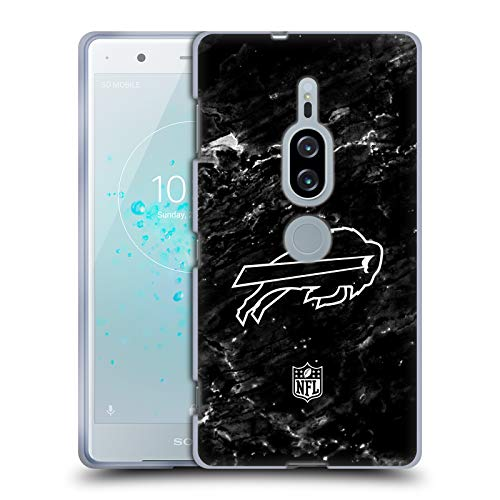 Head Case Designs Offizielle NFL Marmor 2017/18 Buffalo Bills Soft Gel Hülle für Sony Xperia XZ2 Premium