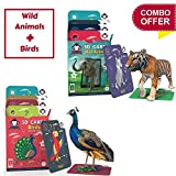 #9: Combo Box of 2 (Wild animals + Birds) | Age 3-10 Years | Activity Toys for Kindergarteners | Playing Card Game | Augmented and Virtual Reality based Educational Toy