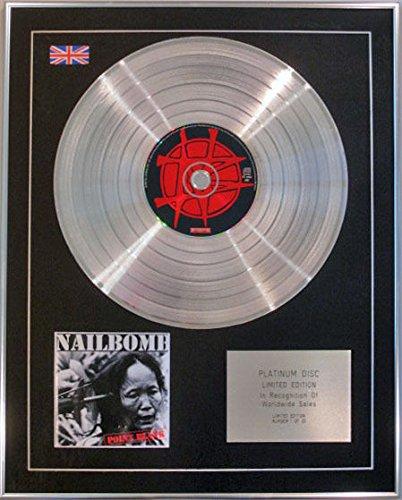 NAILBOMB Limited Edition-CD, a punta, colore: platino