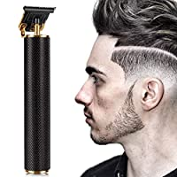 Hair clippers, trimmer cordless rechargeable beauty tools, men's T-blade electric clippers, professional hairdressers zero-clearance T-line lining electric clippers