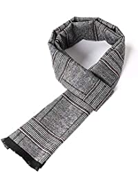 Per la sciarpa da uomo di moda per uomo Sciarpa Winter Fall Plaid Stripes  Long Cashmere 86fb3b1afd79