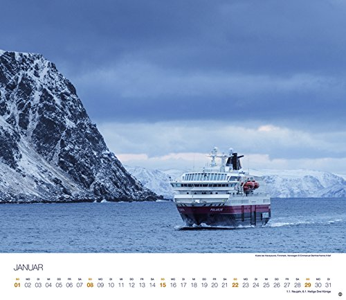 Hurtigruten Globetrotter Kreuzfahrten - Kalender 2017: Alle Infos bei Amazon