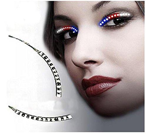 Falsche Wimpern,Natürlich LED Falschen Wimpern Heiße Selling Neueste 1 Paar Unisex LED Waterproof Eyelashes für Party Bar Night Club Geburtstag Halloween Make-Up ZubehöR (Mehrfarbig)