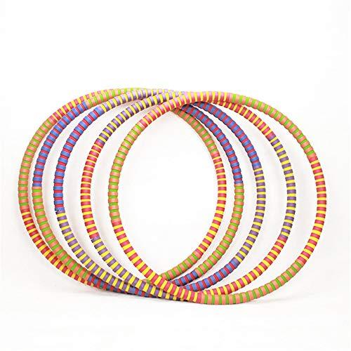 EODUDO-S Weighted Hula Hoop Perfekt für tanzheiße Fitness-Workouts und einfach die witzigste Art, Gewicht zu verlieren, Weitere Stile (Farbe : Muti Color, Größe : 83cm)