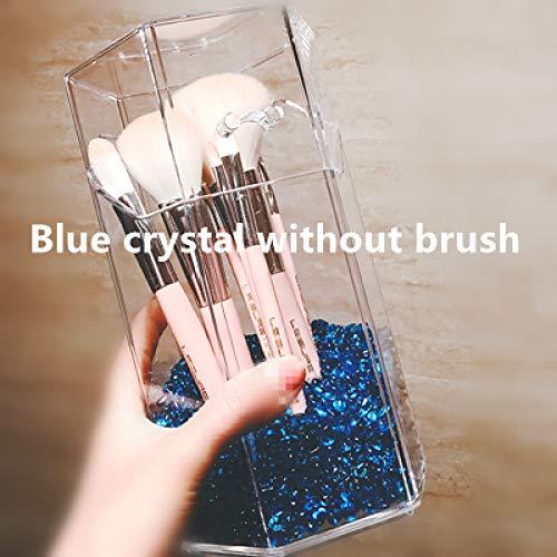 diaobaol Kosmetikpinselhalter, stilvoll und einfach, Acryl, transparent Blauer Kristall -
