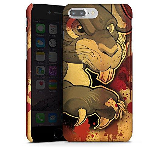 Apple iPhone X Silikon Hülle Case Schutzhülle Tattoo Böses Kaninchen Premium Case glänzend
