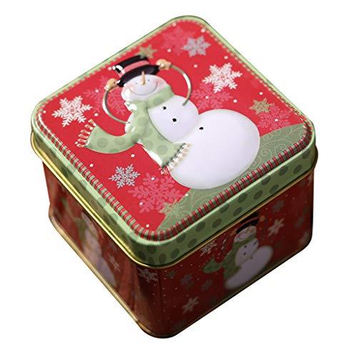 Leey Plätzchendosen Gebäckdose Blechdosen Keksdosen Plätzchendose Aufbewahrungsdosen praktisch und Stillvoll Weihnachten Rentier Schnee Sterne Metalldosen Keksdose Plätzchen Dose
