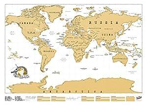 Luckies Scratch Map, Mappa Multicolore da grattare 82.5 x 59.4 cm