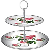 New Redoute Rose Two Tier Cake Stand by Leonardo #LP91479