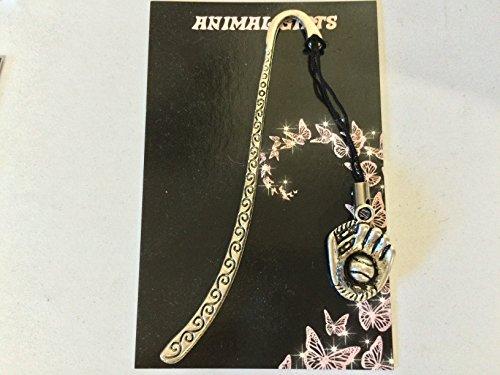 Gant de Baseball Argent Tibétain motif marque-Page avec cordon Très fins détails Livré avec Emballage commercial CH80