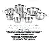 Braisogona Ancora 8 Pieces Stainless Steel Cutlery Set, Silver, 30 x 30 x 30 cm