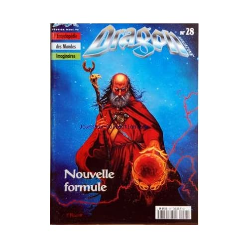 DRAGON MAGAZINE [No 28] du 01/02/1996 - HEROIC FANTASY - SCIENCE FICTION - FANTASTIQUE - ENCYCLOPEDIE DES MONDES IMAGINAIRES NOUVELLE FORMULE - FAMILIER - MARCHANDS - BIRTHRIGHT