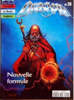 DRAGON MAGAZINE [No 28] du 01/02/1996 - HEROIC FANTASY - SCIENCE FICTION - FANTASTIQUE - ENCYCLOPEDIE DES MONDES IMAGINAIRES NOUVELLE FORMULE - FAMILIER - MARCHANDS - BIRTHRIGHT par Collectif