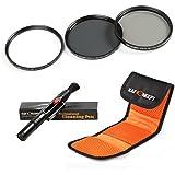 K&F Concept 72mm Filtre Photo UV CPL ND4 pour Canon Nikon Sony Olympus et les Autres Reflex Numérique avec 72mm Filetage de lentille Kit de Filtre UV Protecteur Filtre Polarisant Filtre Gris Neutre +Stylo de Nettoyage + Pochette Filtre