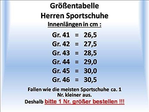 gibra Herren Fußballschuhe, Schwarz/Neonorange, Gr. 41-46 Schwarz/Neonorange