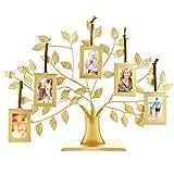 Thetford Design - Cornice portafoto Dorata a Forma di Albero genealogico, con 5 cornici da Appendere