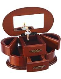 Spieluhrenwelt Damen-Schmuckdose aus Holz Spielt die Melodie Bolero 16066