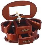 Musicboxworld Spieluhrenwelt Damen-Schmuckdose aus Holz Spielt die Melodie Bolero 16066