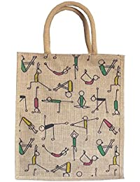Style And Culture Jute Bag For Multi Purpose Use- Lunch Bag, Shopping Bag, Gift Bag (Color-Multi)