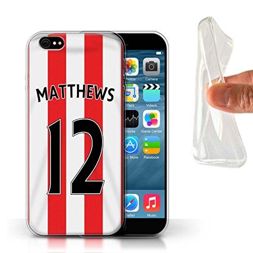 Offiziell Sunderland AFC Hülle / Gel TPU Case für Apple iPhone 6 / Pack 24pcs Muster / SAFC Trikot Home 15/16 Kollektion Matthews