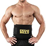 Elecsera Sweat Waist Fat Burner Belly Tummy Yoga Wrap Black Exercise Body Slim look Belt(SWEAT BELT)