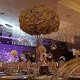 Everbon Blumenvase für Hochzeit, 80 cm hoch, Metall, Blumenständer, goldfarbene Blumen, Säulenhalter für Hochzeit, Tischdekoration, Partys, Event-Dekoration, 10 Stück