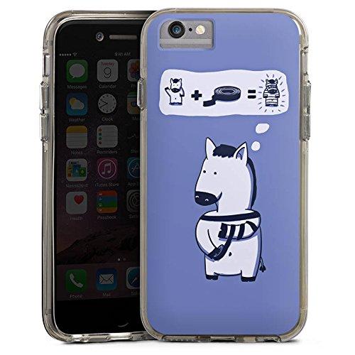 Apple iPhone 8 Bumper Hülle Bumper Case Glitzer Hülle Zebra Funny Lustig Bumper Case transparent grau