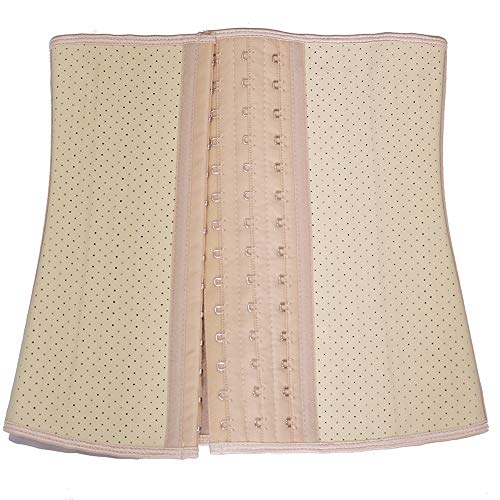 ZHWSXXZ Regenerationskorsett für Damen nach der Geburt mit atmungsaktivem Sportgürtel aus Netzgummi, XL (86-93 cm), braun