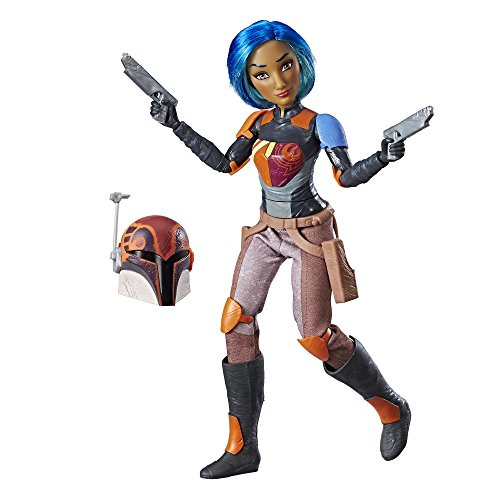 Hasbro Star Wars C1623ES0 - Die Mächte des Schicksals 11 Zoll Deluxe Action Puppe - Sabine, Actionfigur