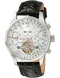 Stansport BM330-112 - Reloj automático para hombre, correa de cuero color negro
