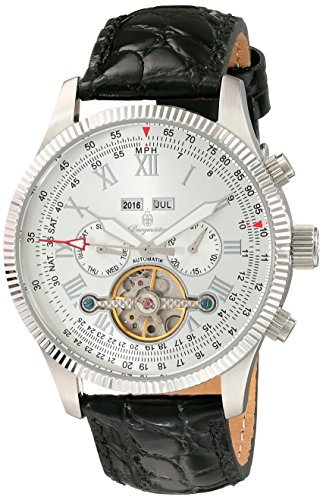 Burgmeister BM330-112 Malabo, Gents automatic watch, Analogue display - Water resistant, Stylish leather strap, Classic men's watch